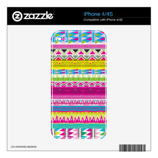 Aztec tribal Hipster iPhone 4S Decal