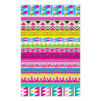 Aztec tribal Hipster Stationery