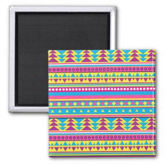 Aztec Tribal in Vivid Colors Magnet