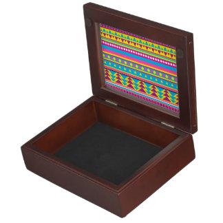 Aztec Tribal in Vivid Colors Memory Box