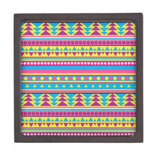 Aztec Tribal in Vivid Colors Premium Keepsake Boxes