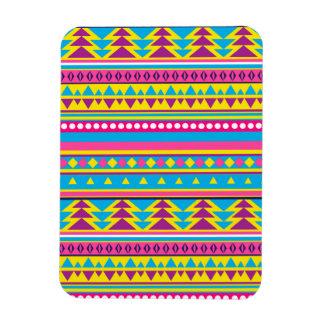 Aztec Tribal in Vivid Colors Rectangular Magnet