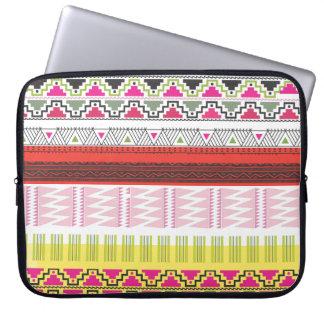 Aztec tribal laptop case computer sleeve