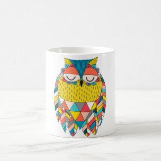 Aztec Tribal Modern Owl Illustration Gift Mug