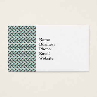 Aztec Tribal Native American Blue Gray Zig Zags Business Card