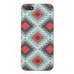 Aztec Tribal Native American Red Blue Pattern iPhone 5 Cover