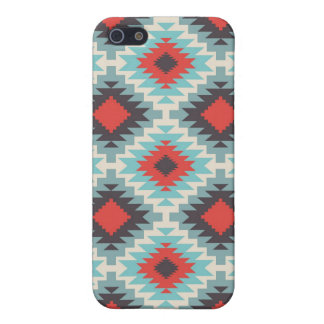 Aztec Tribal Native American Red Blue Pattern iPhone SE/5/5s Case