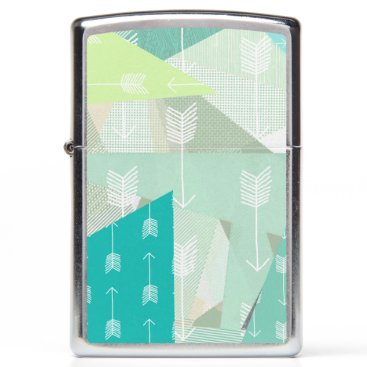 Aztec Tribal Native Arrows Abstract Triangles Zippo Lighter