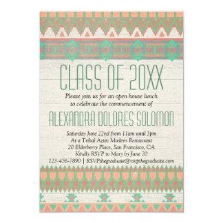 "Aztec Tribal Native Graduation Party Announcement 5"" X 7"" Invitation Card"