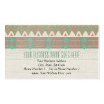 Aztec Tribal Native Pastel Peach/Aqua Double-Sided Standard Business Cards (Pack Of 100)