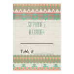Aztec Tribal Native Pastel Peach/Aqua Large Business Cards (Pack Of 100)