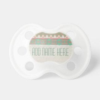 Aztec Tribal Native Pastel Peach/Aqua Pacifier