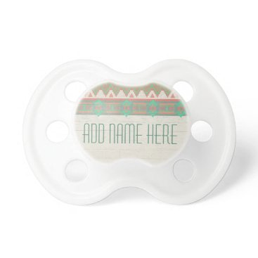 Aztec Themed Aztec Tribal Native Pastel Peach/Aqua Pacifier