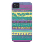 Aztec Tribal Pattern Case-Mate iPhone 4 Cases