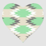 Aztec Tribal Pattern Heart Stickers