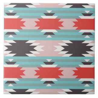 Aztec Tribal Pattern Native American Prints Ceramic Tile