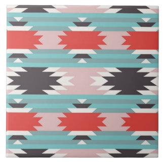Aztec Tribal Pattern Native American Prints Ceramic Tile