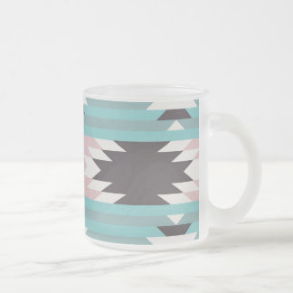 Aztec Tribal Pattern Native American Prints Frosted Glass Coffee Mug