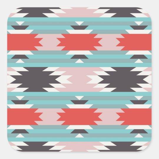Aztec Tribal Pattern Native American Prints Square Sticker