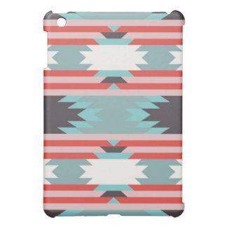Aztec Tribal Pattern Native American Red Blue iPad Mini Cases