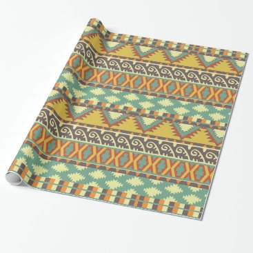 Aztec Themed Aztec Tribal pattern party wrap Wrapping Paper