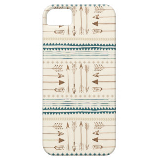 Aztec Tribal Print Arrows Neutral Brown Beige Teal iPhone SE/5/5s Case