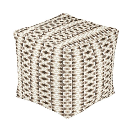 Aztec tribal print neutral browns beige taupe cube pouf zazzle - Beige slaapkamer taupe ...