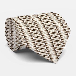 Aztec Tribal Print Neutral Browns Beige Taupe tie