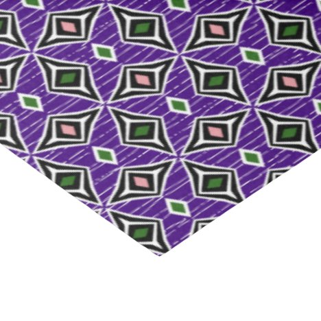 Aztec tribal  purple pink green diamond gems tissue paper