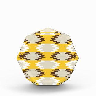 Aztec Tribal Yellow Brown Native American Designs Acrylic Award