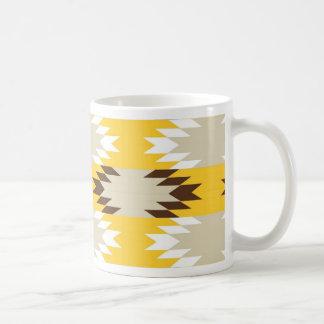 Aztec Tribal Yellow Brown Native American Designs Classic White Coffee Mug