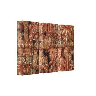 Aztec Triptych Canvas Print