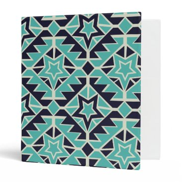 Aztec Themed Aztec turquoise and navy 3 ring binder