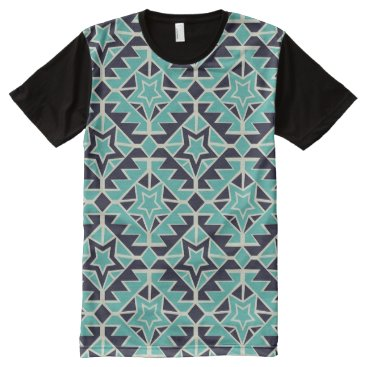 Aztec Themed Aztec turquoise and navy All-Over-Print T-Shirt