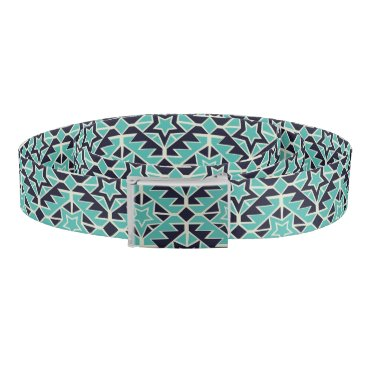 Aztec Themed Aztec turquoise and navy belt