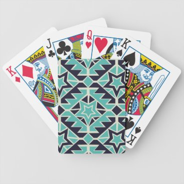 Aztec Themed Aztec turquoise and navy bicycle playing cards
