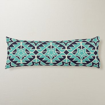 Aztec Themed Aztec turquoise and navy body pillow