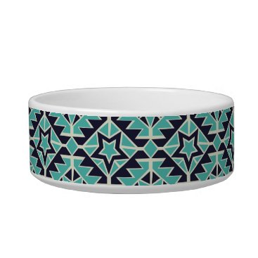 Aztec Themed Aztec turquoise and navy bowl