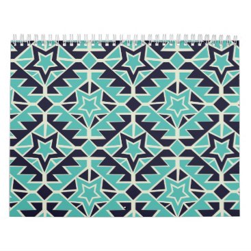 Aztec Themed Aztec turquoise and navy calendar