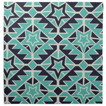 Aztec Themed Aztec turquoise and navy cloth napkin