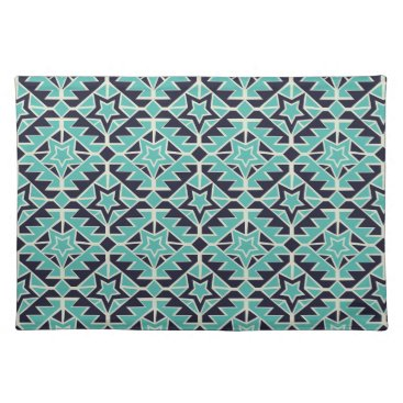 Aztec Themed Aztec turquoise and navy cloth placemat