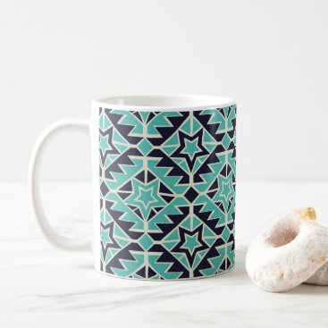 Aztec Themed Aztec turquoise and navy coffee mug
