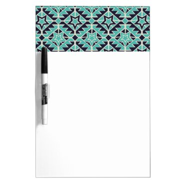 Aztec Themed Aztec turquoise and navy dry erase board