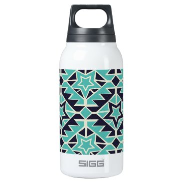 Aztec Themed Aztec turquoise and navy insulated water bottle