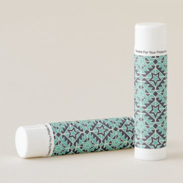 Aztec Themed Aztec turquoise and navy lip balm