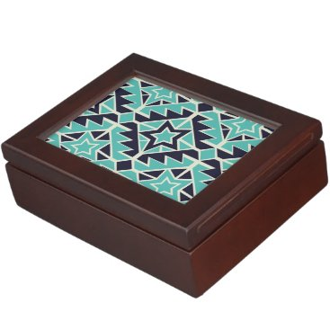 Aztec Themed Aztec turquoise and navy memory box