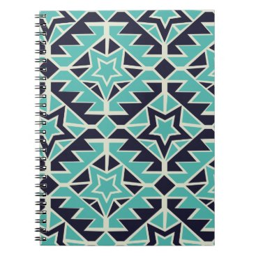 Aztec Themed Aztec turquoise and navy notebook