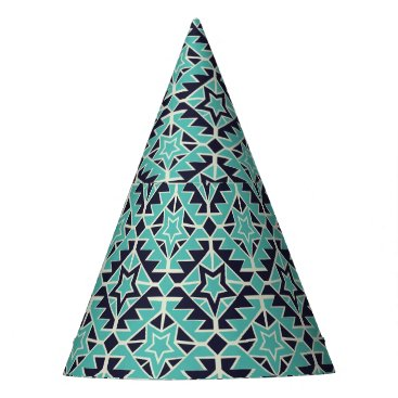 Aztec Themed Aztec turquoise and navy party hat