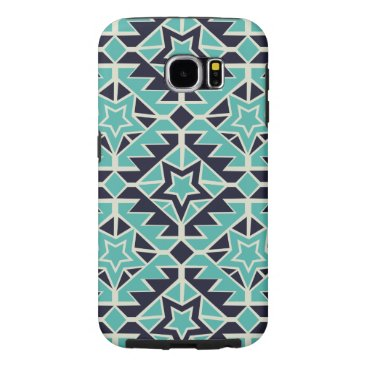 Aztec Themed Aztec turquoise and navy samsung galaxy s6 case