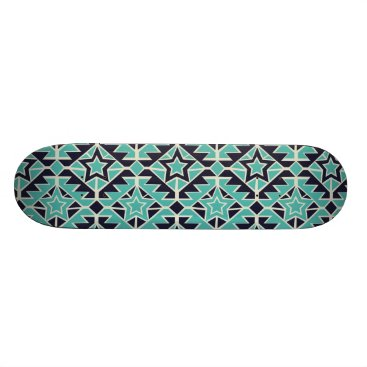 Aztec turquoise and navy skateboard deck